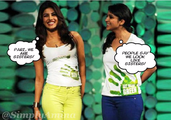 Priyanka Chopra and Parineeti Chopra