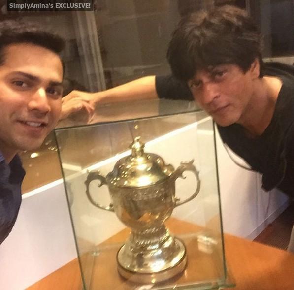 Varun Dhawan and Shahrukh Khan