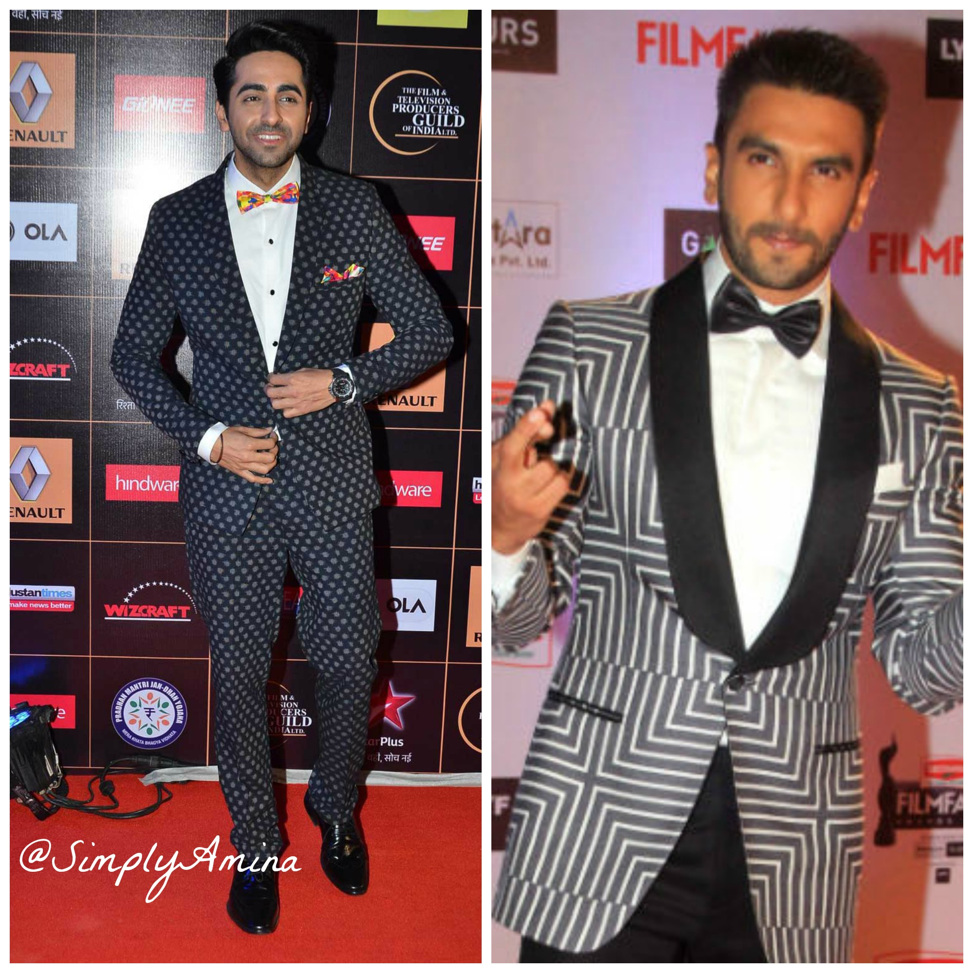 Boys these bollywood celebs show you how to rock your bow ties ayushmann khurrana ranveer singh ccuart Image collections