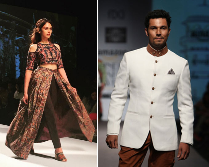 Aditi Rao Hydari & Randeep Hood at AIFWAW'16 on Day 3