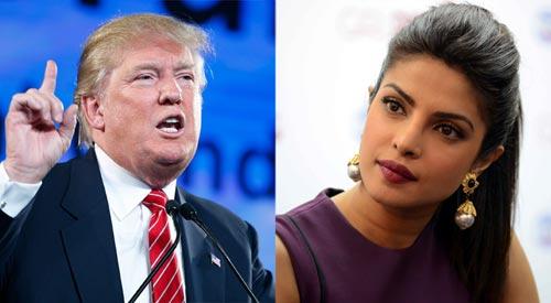 Donald Trump, Priyanka Chopra